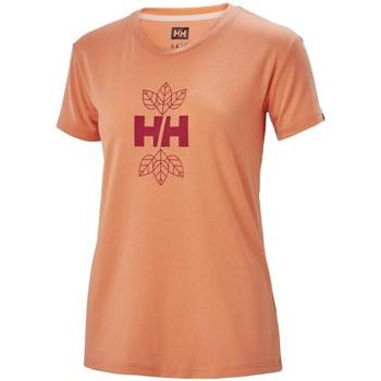 Kleidung Damen T-Shirts Helly Hansen Skog Graphic Orangefarbig