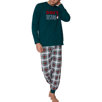 Kleidung Herren Pyjamas/ Nachthemden Admas For Men Pyjamahose und Oberteil Do Not Disturb Admas Dunkelgrün