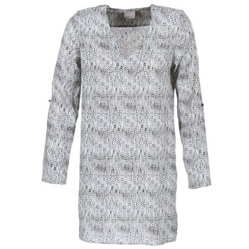Kleidung Damen Kurze Kleider Vero Moda COOLI Schwarz / Weiss