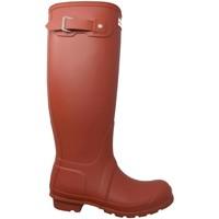 Schuhe Damen Stiefel Hunter  Rojo