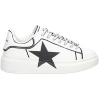Schuhe Mädchen Sneaker Low Shop Art SAG80314 WEISS SCHWARZ