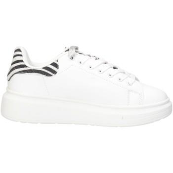 Schuhe Damen Sneaker Low Shop Art SA80204 WEISS SCHWARZ