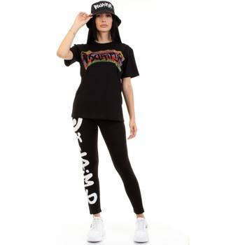 Kleidung Damen T-Shirts Disclaimer 50934 Schwarz