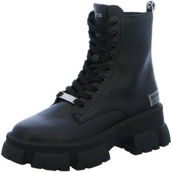 Schuhe Damen Stiefel Steve Madden Stiefeletten Tanker SM11001261/017 schwarz