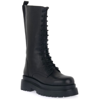 Schuhe Damen Klassische Stiefel Keys ANFIBIO BLK Nero