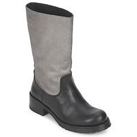 Schuhe Damen Klassische Stiefel Pastelle PETULA Silber-Schwarz