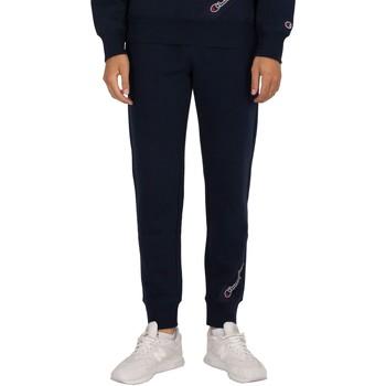 Kleidung Herren Jogginghosen Champion Rippmanschette Jogger blau