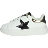 Schuhe Damen Sneaker High Shop Art SA80215 Weiss/Schwarz
