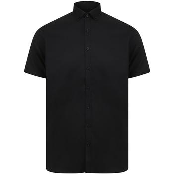 Kleidung Herren Kurzärmelige Hemden Henbury H517S Schwarz