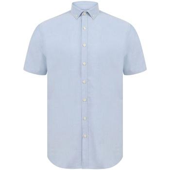 Kleidung Herren Kurzärmelige Hemden Henbury H517S Blau