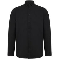 Kleidung Herren Langärmelige Hemden Henbury H512R Schwarz