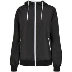 Kleidung Damen Jacken Build Your Brand BY147 Schwarz/Weiß