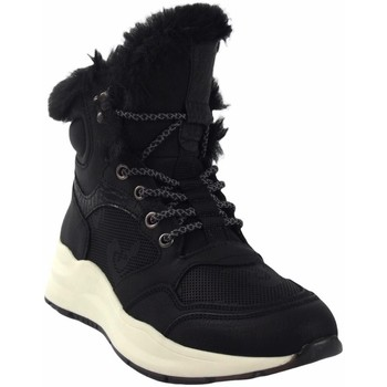 Schuhe Damen Boots Emmshu Wester schwarz Schwarz