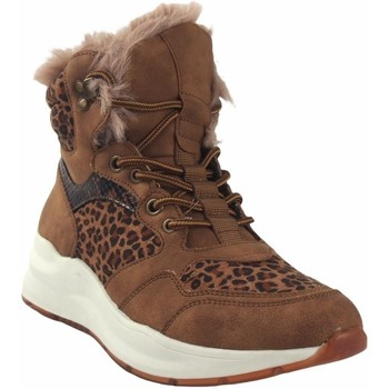 Schuhe Damen Boots Emmshu Lady   Wester Leder Braun