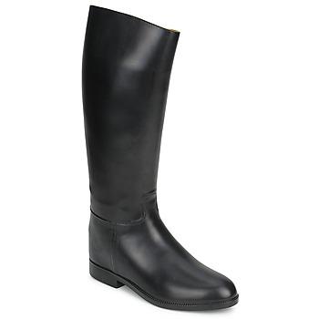 Schuhe Damen Klassische Stiefel Aigle ECUYER M Schwarz