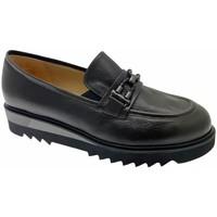 Schuhe Damen Slipper Donna Soft DOSODS1199ne grigio