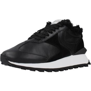 Schuhe Damen Sneaker Low Voile Blanche QWARK FUR Schwarz