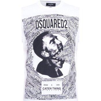 Kleidung Herren T-Shirts Dsquared S74GD0481 Weiss
