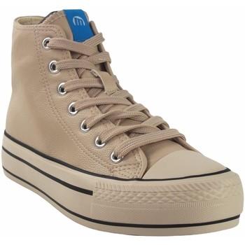 Schuhe Damen Sneaker High MTNG Canvas Lady MUSTANG 60172 beige Weiss
