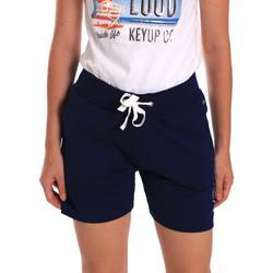 Kleidung Damen Shorts / Bermudas Key Up 5G38L 0001 Blau