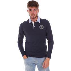 Kleidung Herren Langärmelige Polohemden Key Up 2G88R 0001 Blau