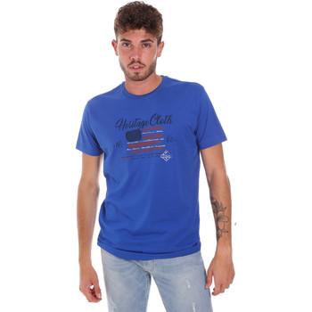 Kleidung Herren T-Shirts Key Up 2G83S 0001 Blau
