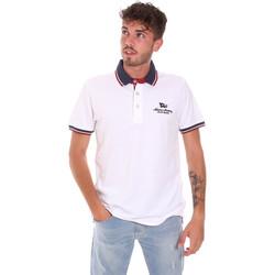 Kleidung Herren Polohemden Key Up 2Q60G 0001 Weiß