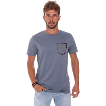 Kleidung Herren T-Shirts Antony Morato MMKS01025 FA100084 Blau