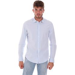 Kleidung Herren Langärmelige Hemden Gas 151133 Blau