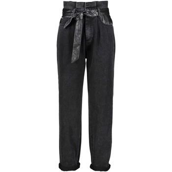 Kleidung Damen Boyfriend Jeans Gaudi 121BD26037 Schwarz