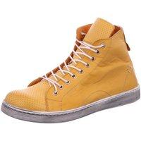 Schuhe Damen Stiefel Scandi Stiefeletten 2217 gelb