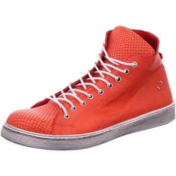 Schuhe Damen Stiefel Scandi Stiefeletten 2217 rot