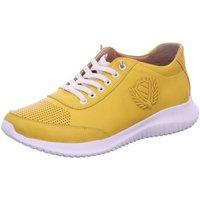 Schuhe Damen Sneaker Low Scandi Schnuerschuhe 004 gelb