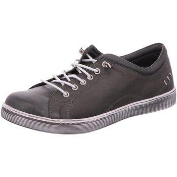 Schuhe Damen Sneaker Low Scandi Schnuerschuhe 2220 grau