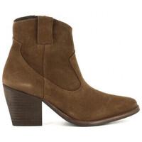 Schuhe Damen Low Boots Bryan 4100 Marron