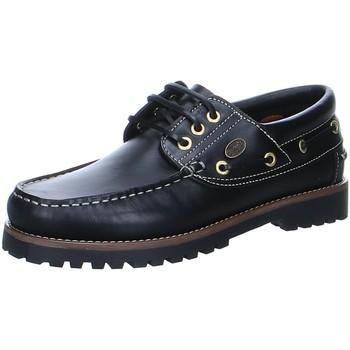 Schuhe Herren Bootsschuhe Dockers by Gerli Schnuerschuhe Leder 24DC001-180-100 schwarz