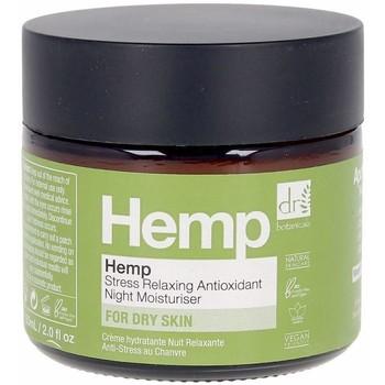 Beauty Damen pflegende Körperlotion Dr. Botanicals Hemp Stress Relaxing Antioxidant Night Moisturiser