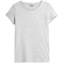 Kleidung Damen T-Shirts 4F TSD350 Grau