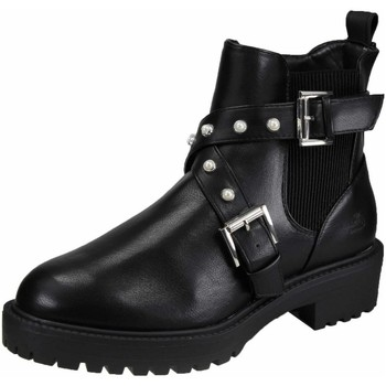 Schuhe Damen Stiefel Bullboxer Stiefeletten 031517F6S-BLCK schwarz