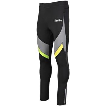 Kleidung Herren Leggings Diadora Sport Bekleidung Winter Running 102.177558 80013 schwarz