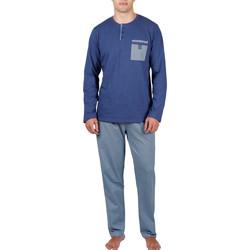 Kleidung Herren Pyjamas/ Nachthemden Admas For Men Pyjamahose und Oberteil Mercury Admas Blau