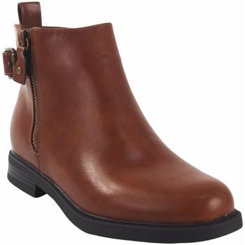 Schuhe Mädchen Boots Bubble Bobble Mädchenbeute  a3505 Leder Braun