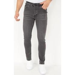 Kleidung Herren Slim Fit Jeans True Rise  Grau