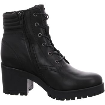 Schuhe Damen Stiefel Online Shoes Stiefeletten F-8298 schwarz