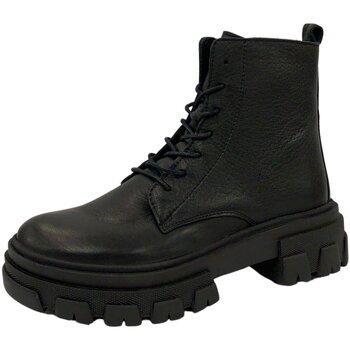 Schuhe Damen Stiefel Online Shoes Stiefeletten F-8280-16 schwarz