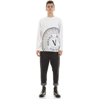 Kleidung Herren Langärmelige Hemden Versace Jeans Couture 71GAHT20-CJ00T Weiß