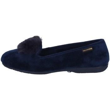 Schuhe Damen Slipper Valleverde 22103 Blau