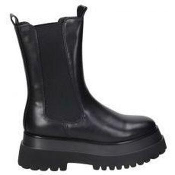 Schuhe Damen Low Boots Emmshu BOTINES  DENIS MODA JOVEN BLACK Noir