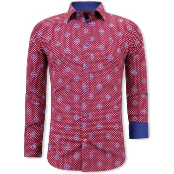 Kleidung Herren Langärmelige Hemden Tony Backer  Rot