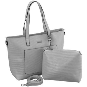 Taschen Damen Handtasche Badura 104870 Grau
